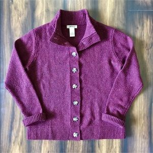 Orvis Button Front Lambswool Blend Cardigan Small